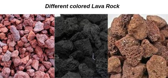 picture of different colored lava rock