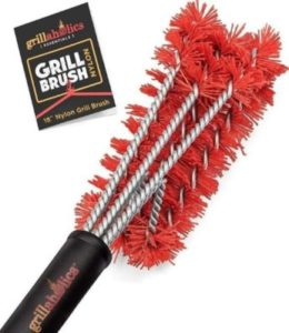 grillaholics nylon brush which will clean grill plates without damaging the surface comes with a lifetime warranty