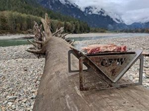 opw portable grill out on a trail