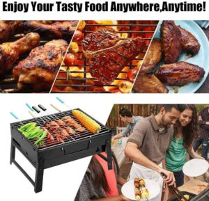 Uten multi images showing what is possible with this small portable grill