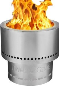 flame genie wood burning smokeless firepit