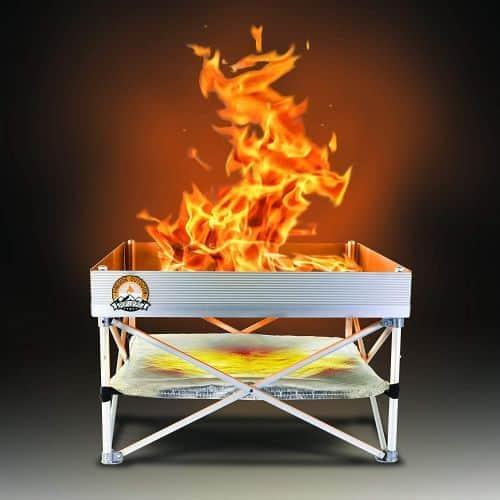 portable pop up wood burning firepit