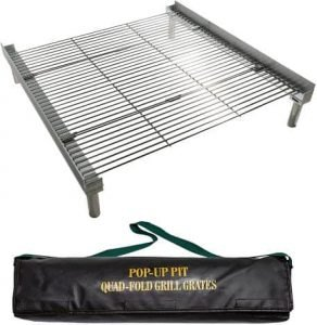quad grill grate for pop up fire pit