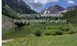 enjoy nature and protect the environment by using a smokeless fire pit to keep warm